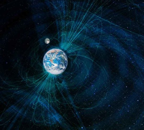 Billede af jordens magnetisme